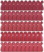 AUSTOR 50 Pieces Mouse Detail Sandpaper with Extra 2 Tips Hook and Loop Assorted 40/60/ 80/120/ 240 Grits to Fit Black and Decker Detail Palm Sander