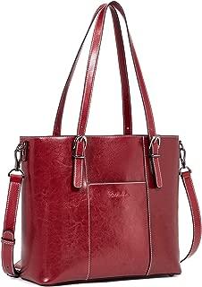 BOSTANTEN Women Leather Handbags Vintage Tote Shoulder Bag Top Handle Cross-body Purses