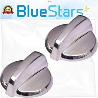 Ultra Durable WB03T10325 Range Metal Knob Replacement Part by Blue Stars - Exact Fit for General Electric Ranges - Replaces 2691864 AP5690210 PS3510510 - Pack of 2