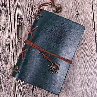 JSFNotebook Vintage Pirate Diary Notebook Agenda With Leather Cover Loose Leaf Note Book for School Stationery or Traveler