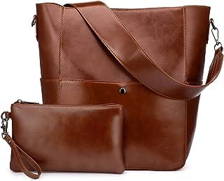 Realer Geldbörsen und Handtaschen Tote Bag für Frauen Schultertasche, 3-teiliges Set