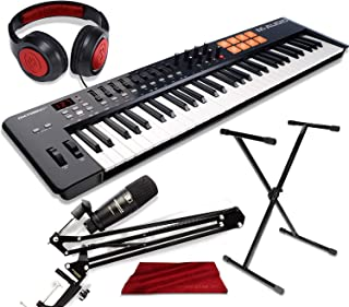 M-Audio Oxygen 61 IV - USB MIDI Keyboard Controller with Marantz Professional Pod Pack 1 Broadcasting Microphone Kit and Accessory Bundle