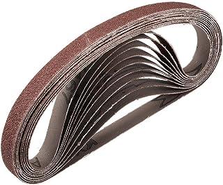 """1/2""""x 18"""" 80 kornslipbälte Aluminiumoxid sandpappersbälten för bärbar rems slipmaskin träfinish metall gips polering slipn..."""