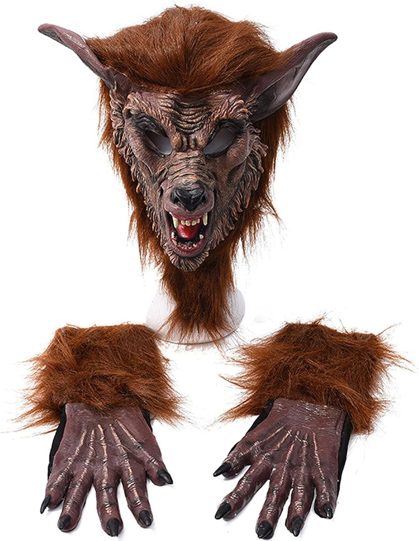 AJIU Novelty Halloween Max 82% OFF Werewolf 25% OFF Mask Wolf Head Masqu Horror