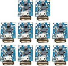 Onyehn 10Pcs 5V Boost Step Up Power Supply Module Lithium Battery Charge Protection Board HOTCHIP HT4928S(parameters Same as134N3P) DIY Charger LED Display USB and Micro Port 10 Pack
