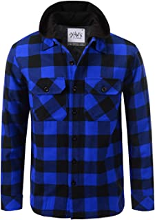 royal blue and black flannel