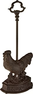 Zings & Thingz 57073398 Country Rooster Door Stopper with Handle, Brown