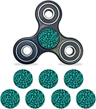 MightySkins Vinyl Decal Skin Compatible with Fidget Spinner Center Cap – Teal Leopard   Protective Sticker Wrap for Your Fidget Toy Bearing Cap   Easy to Apply Cover