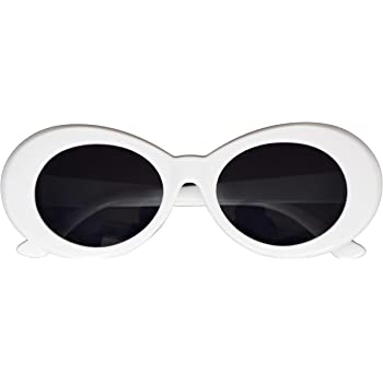 Clout Goggles Kurt Cobain Sunglasses Party Favors Sunglasses 4 PCS Retro Glasses Unisex Sunglasses Oval Mod Style Thick Frame 80s Sunglasses for Women
