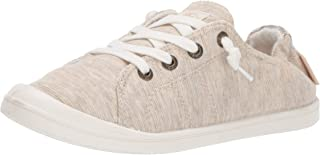 Roxy Womens Bayshore Slip on Sneaker Shoe Beige Size: