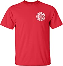 Fire Rescue Firefighter Duty Chest Print T-Shirt