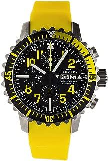 Fortis Gents-Wristwatch B-42 Marinemaster Chronograph Yellow Date Analog Automatic 671.24.14 SI.04