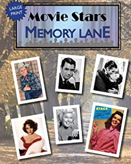 Movie Stars Memory Lane: large print book for dementia patients