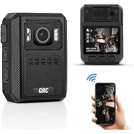 GRC 1512P HD WiFi Police Body Camera,128G Memory,4000mAh Battery Premium Body Worn Camera,Waterproof Body Camera with Audio Recording Wearable Night Vision GPS for Law Enforcement,Ambarella H22 Chip