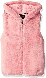 Girls' Big Faux-Fur Zip Up Hooded Vest