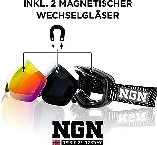 f1672c61ff NGN - Gafas de esquí y Snowboard (protección UV, Sistema de Cambio  magnético,