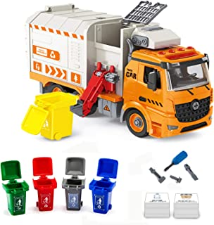 iLifeTech Friction Garbage Trucks Toy with Light and Sound, Assembly Waste Recycling Vehicle Toy for 6-12 Years Old Boy an...