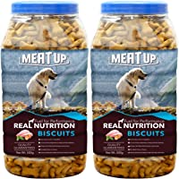 Meat Up Chicken Flavour Real Chicken Biscuit, 500g (Pack of 2)