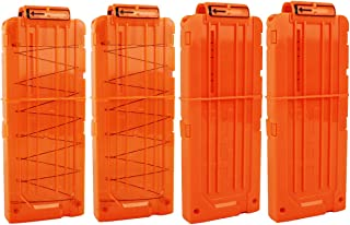 OIMIO Bullet Clips, 4 Pack 12 Darts Quick Reload Clips Magazine Clips for Nerf n-Strike Elite Blaster
