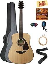 Yamaha FG800 Solid Top Folk Acoustic Guitar - Natural Bundle with Gig Bag, Tuner, Strings, Strap, Picks, Austin Bazaar Instructional DVD, and Polishing Cloth