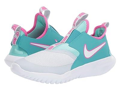 Nike Kids Flex Runner Aqua (Big Kid) (Pure Platinum/White/Cabana) Girls Shoes