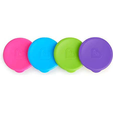 Munchkin Miracle 360 Cup Lids, 4 Count, Colors May Vary