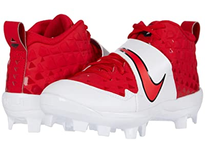 Nike Kids Force Trout 6 Pro MCS Baseball (Toddler/Little Kid/Big Kid) (University Red/University Red/Whtie) Kids Shoes