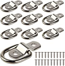 KIMISS Steel Silver Car Trailer Tie Down D Ring Secure Lashing Towing Anchor Hooks for Trucks RvV Campers Van Atv Suv Boat