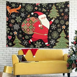 Zhenxinganghu Christmas Flower - Decoración de Pared para Dormitorio o salón (diseño de Mandala Hippie, Estilo Bohemio, Es...