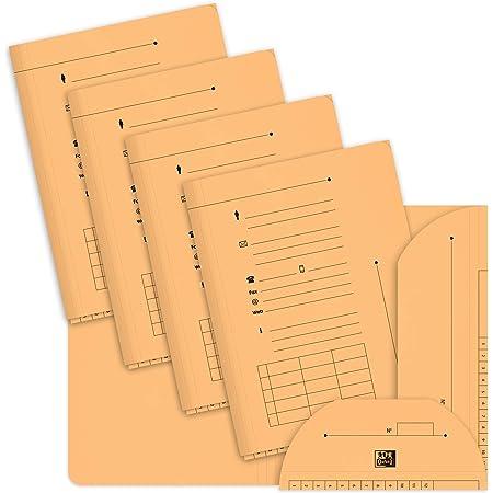 OXFORD Hv Ultimate Lot de 25 Sous-Chemises 2 Rabats Format A4 en Kraft Orange