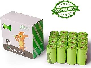 16 Pack - Pet Waste Biodegradable Bags, Built with Heavy Duty EPI Plastic, Leak Proof, Eco Friendly Poop Bags by Prime Pet