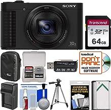 Sony Cyber-Shot DSC-HX80 Wi-Fi Digital Camera with 64GB Card + Case + Battery & Charger + Tripod + Kit