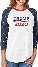 Donald Trump President 2020 Campaign 3/4 Women Sleeve Baseball Jersey Shirt
