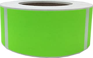 """Fluorescent Green Color Coding Labels 2 x 4"""" Inch Rectangle Shaped Colored Stickers for Inventory Strong Adhesive 500 Stickers/Roll"""