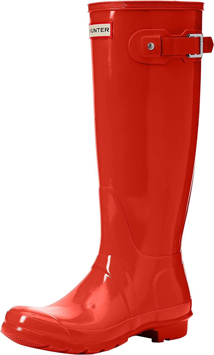 Hunter Original Tall Gloss Womens Boots orange