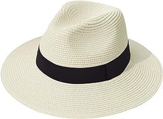wide brim fedora straw hat