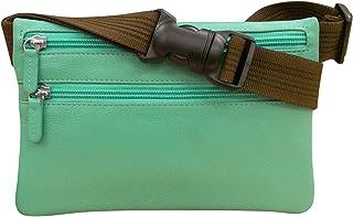 ili New York 6236 Leather Money Belt Pouch (Turquoise)