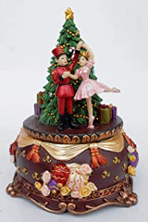 Musicbox Kingdom Cascanueces y Bailarina en un árbol de Navidad con la melodía Cascanueces