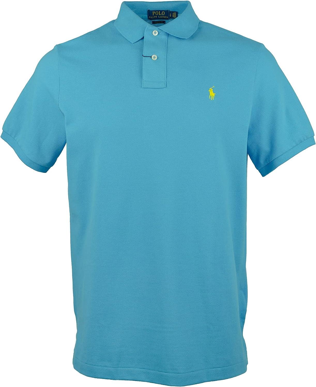 Polo Ralph Lauren Mens Cotton Classic Fit Polo Shirt Blue L