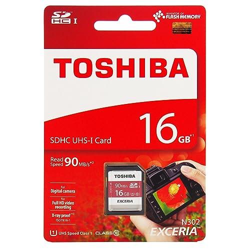 Toshiba Exceria 16GB Class 10 UHS-I 90 MB/s SDHC Memory Card