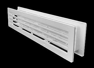 Bathroom Door Air Vent Grille by Handua | Perfect for Restroom, Warehouse, Storage and Storeroom Doors | Interior Door Transfer Grill 404mm x 90mm (15.90