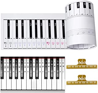 Ultimate Piano Keyboard Learning Aid Set - 1:1 Scale 88 Keys