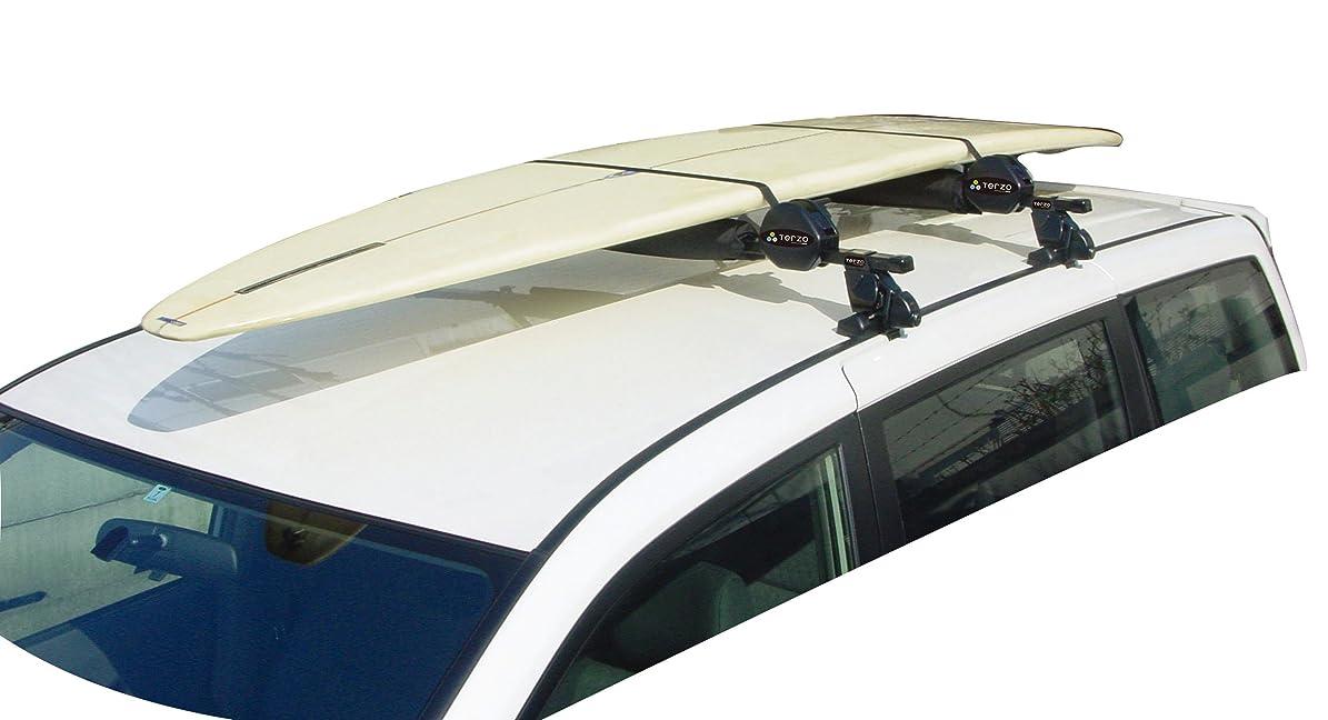 ベットフィドル粒Terzo サーフボードキャリア 2枚積み 積載用キット ブラック ボードクッション付 EM45