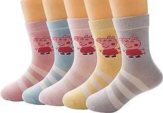 10prs Girls Cotton Crew Socks, Cute Socks for Toddler/Little Girls.