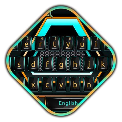 Neon Mechanical Keyboard Theme