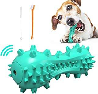 Squeaky Dog Chew Toy for Aggressive Chewers, Natural Rubber Dog Toothbrush Toys, Durable Dental Care Teeth Cleaning Toys f...
