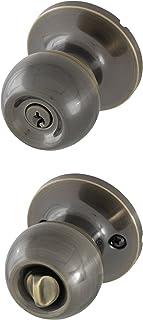 Honeywell Safes & Door Locks 8102101 Ball Entry Door Knob, Antique Brass