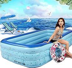ZDYLM-Y Piscina Desmontable Tubular, Espesar PVC Rectangular Piscina para niños Adultos, Fiesta del Agua de Verano para el Día de la Familia, 300x180x60cm