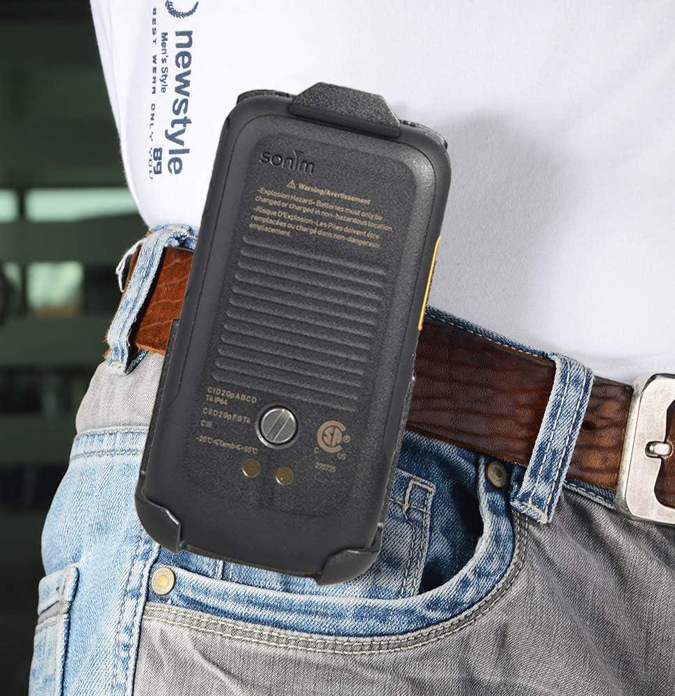 Holster for Sonim XP3, Nakedcellphone Black [Rotating/Ratchet] Belt Clip Holder Case [with Kickstand] for Sonim XP3 Flip Phone (XP3800)