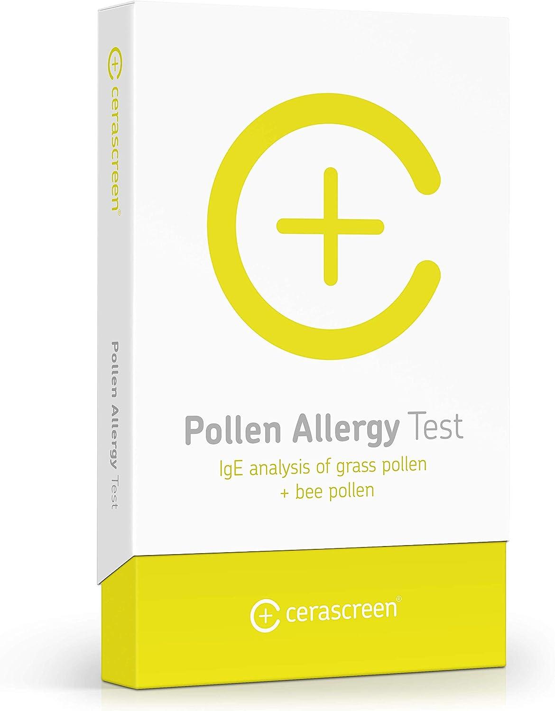 Prueba Alergia al Polen de CERASCREEN - Análisis de 16 polen de flor + hierba fácilmente en casa   Evaluación en un laboratorio profesional